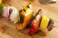 Organic Grilled Vegetable shish Kebab Stock Photography