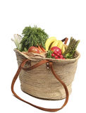 Organic groceries Stock Images