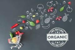 Organic groceries Stock Image