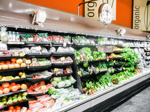 Organic grocery and fruits Stock Photo