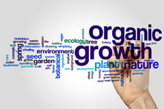 Organic growth word cloud Royalty Free Stock Photos