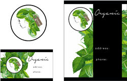 Organic Hair salon modern Logo, Business Card, Flyer Royalty Free Stock Photo