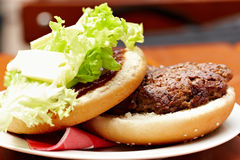 Organic hamburger Royalty Free Stock Image