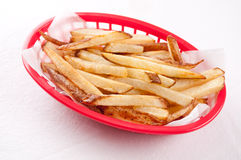 Organic hand cut french fries Stock Photo