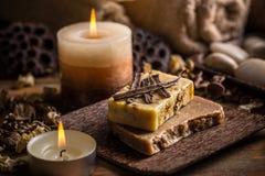 Organic handmade soap Royalty Free Stock Photography