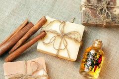 Organic handmade soap. Royalty Free Stock Photography