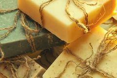 Organic handmade soap. Royalty Free Stock Photos