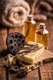 Organic handmade soap Royalty Free Stock Image