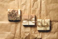 Organic handmade soap. Stock Photos