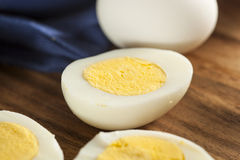 Organic Hard Boiled Eggs Royalty Free Stock Photo