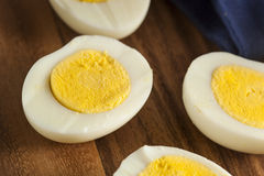 Organic Hard Boiled Eggs Royalty Free Stock Photography