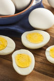 Organic Hard Boiled Eggs Royalty Free Stock Photos