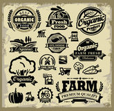 Organic harvest labels Stock Photos