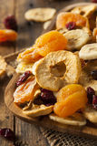 Organic Healthy Assorted Dried Fruit Stock Image