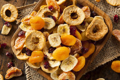 Organic Healthy Assorted Dried Fruit Royalty Free Stock Photography