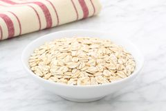 Raw oats. Organic and healthy bunch of raw oats Royalty Free Stock Images