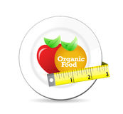 Organic healthy concept on a plate. Royalty Free Stock Image