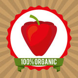Organic healthy food design. Vector illustration Stock Images