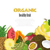 Organic healthy fruit background. Healthy Diet illustration Royalty Free Stock Photo