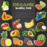 Organic healthy fruit background Stock Image