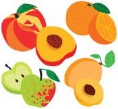 Organic Healthy Fruit Set Royalty Free Stock Photos