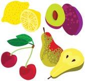 Organic Healthy Fruit Set Stock Photography