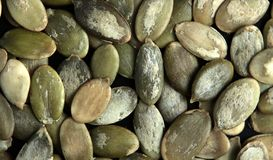 Organic and healthy pumpkin seeds. royalty free stock photo