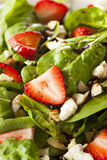 Organic Healthy Strawberry Balsamic Salad Royalty Free Stock Images