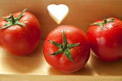 Organic healthy tomatoes Stock Images