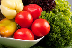 Organic healthy vegetables Stock Images