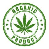 Organic hemp rubber stamp. On white background Royalty Free Illustration