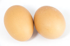 Organic Hen eggs Royalty Free Stock Image