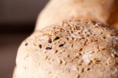 Organic home made bread with flax seeds Royalty Free Stock Photos