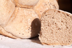 Organic home made bread with flax seeds Royalty Free Stock Photography