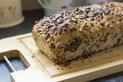 Organic, home made bread freshly baked Royalty Free Stock Image
