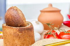 Organic home-made bread at market Royalty Free Stock Images
