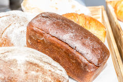 Organic home-made bread at market Royalty Free Stock Image