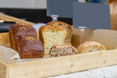 Organic home-made bread at market Royalty Free Stock Photography