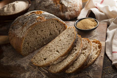 Organic Homemade Ancient Grain Bread Royalty Free Stock Photos