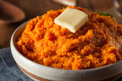 Organic Homemade Mashed Sweet Potatoes Royalty Free Stock Images