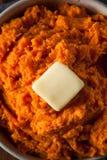 Organic Homemade Mashed Sweet Potatoes Stock Image