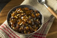 Organic Homemade Mincemeat Filling Royalty Free Stock Images