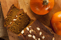 Organic Homemade Pumpkin Bread Royalty Free Stock Image