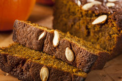 Organic Homemade Pumpkin Bread Royalty Free Stock Photography