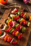 Organic Homemade Vegetable Shish Kababs Stock Photography