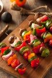Organic Homemade Vegetable Shish Kababs Stock Images