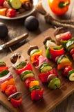 Organic Homemade Vegetable Shish Kababs Stock Image