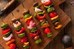 Organic Homemade Vegetable Shish Kababs Royalty Free Stock Photography