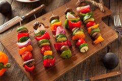 Organic Homemade Vegetable Shish Kababs Stock Photos