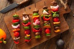 Organic Homemade Vegetable Shish Kababs Royalty Free Stock Photos